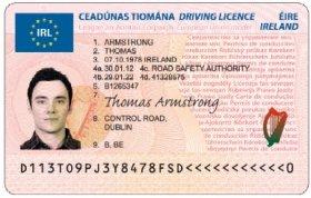 Der neue EU-Führerschein - hier als irländische Version.